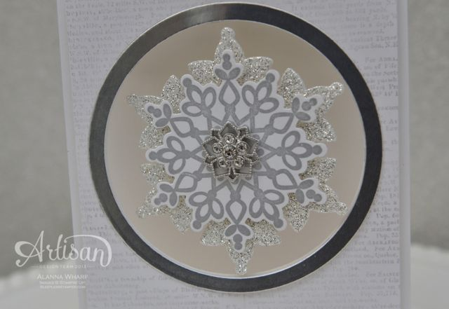 Artisan Wednesday Wow ~ Shimmer & Shine Snowflake ~ Sleepless Stamper